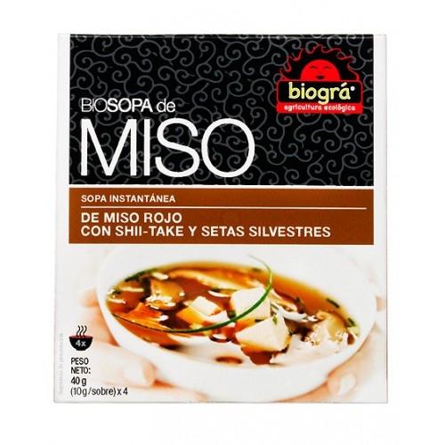 Sopa miso vermell amb bolets BIOGRA