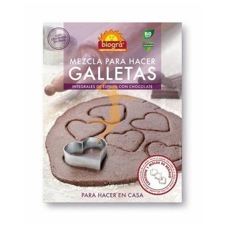 Barreja d'espelta i xocolata per a fer galetes bio BIOGRÀ