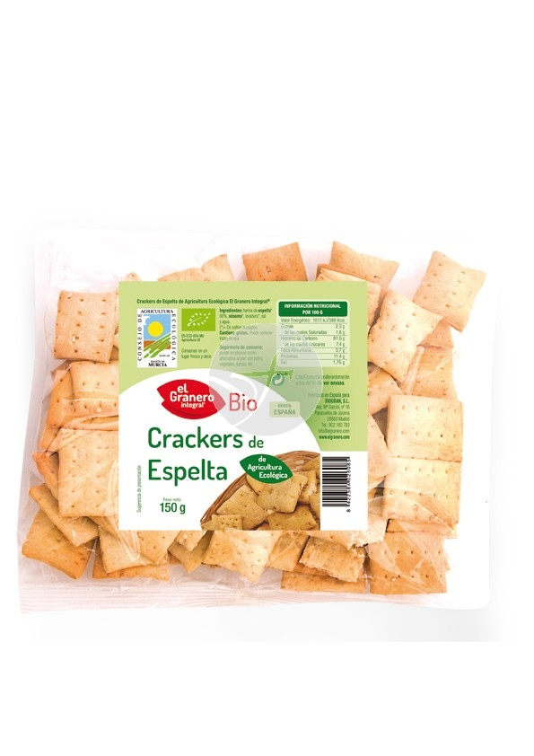 Crackers d'espelta  amb sèssam EL GRANERO INTEGRAL