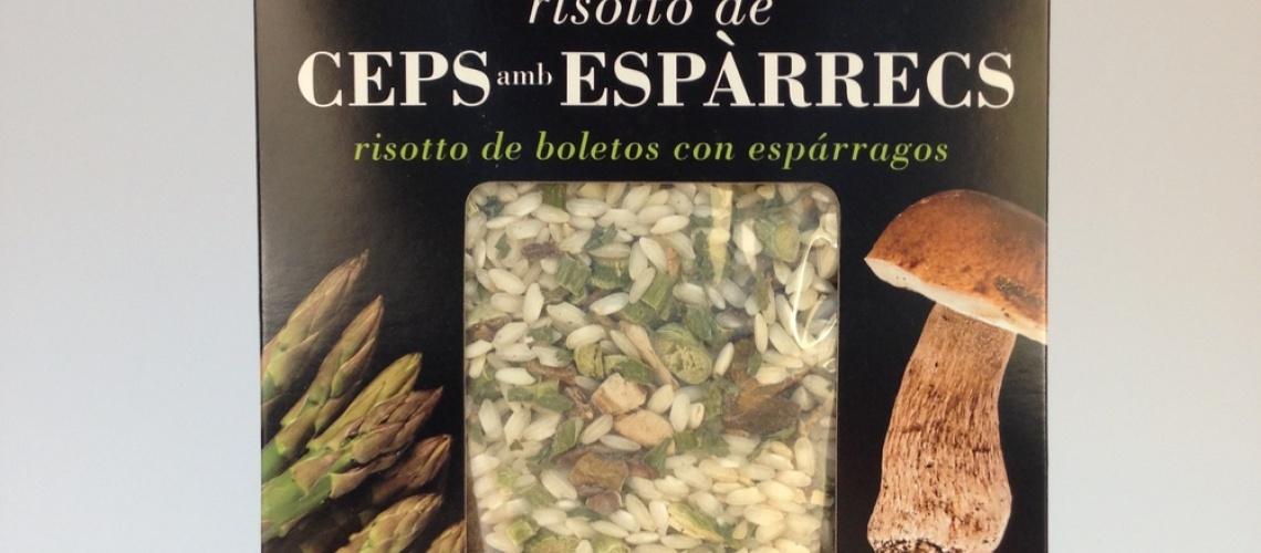 Risotto de ceps amb espàrrecs