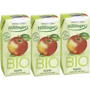 suc de poma bio  sense sucre 3x200 HOLLINGER