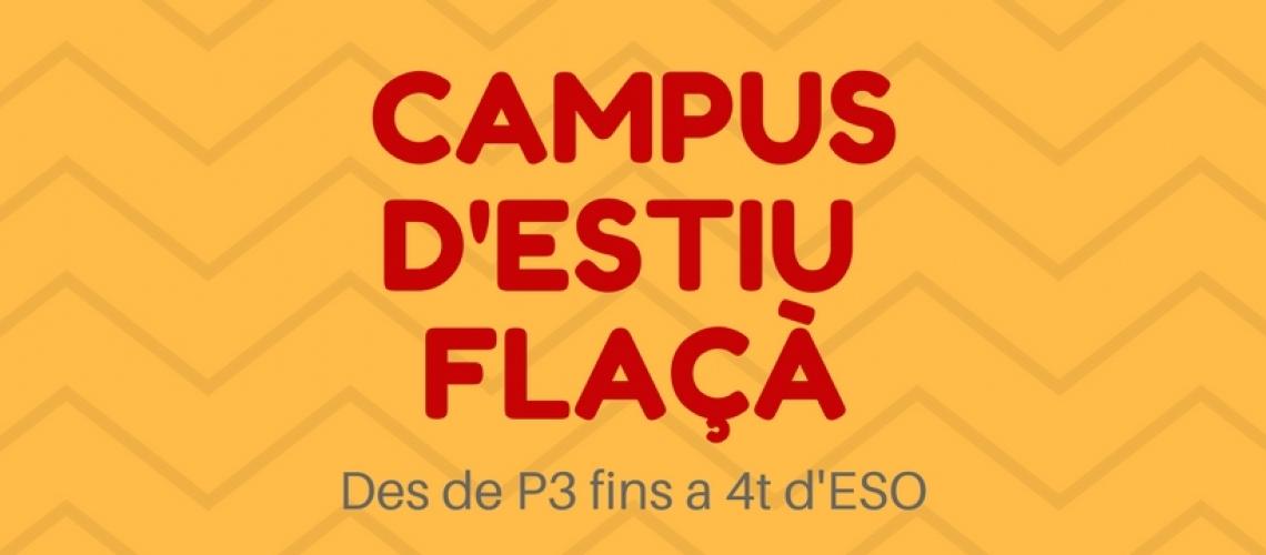 Campus d'estiu a FLAÇÀ: inscripció, informació...
