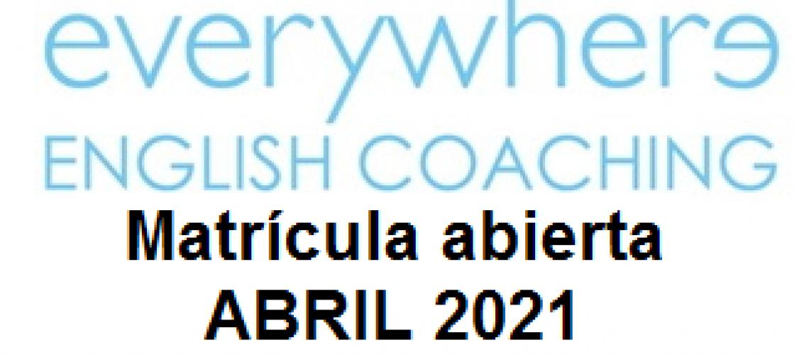 Matrícula abierta Abril 2021
