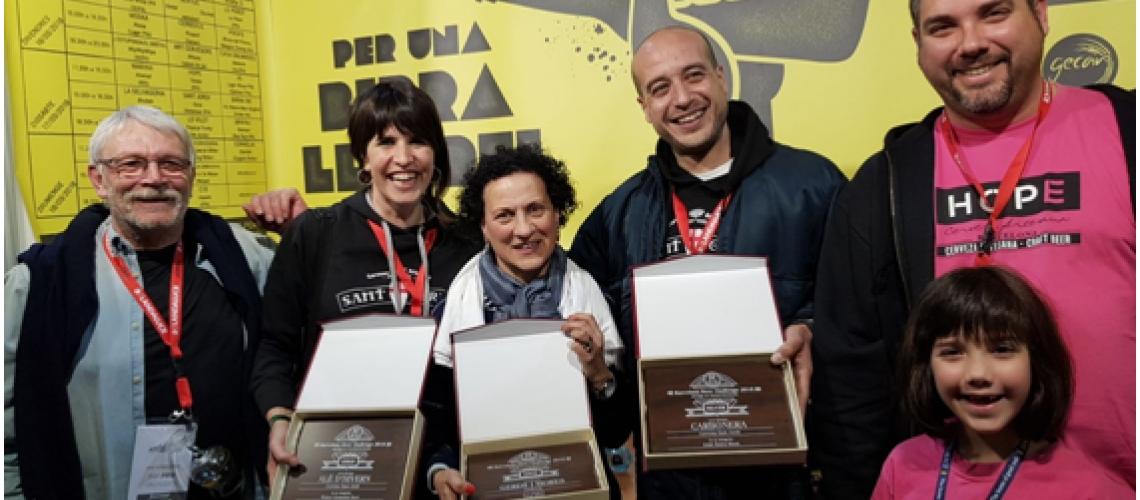 21/03/2018 Les cerveses de GECAN arrasen als premis del BBF