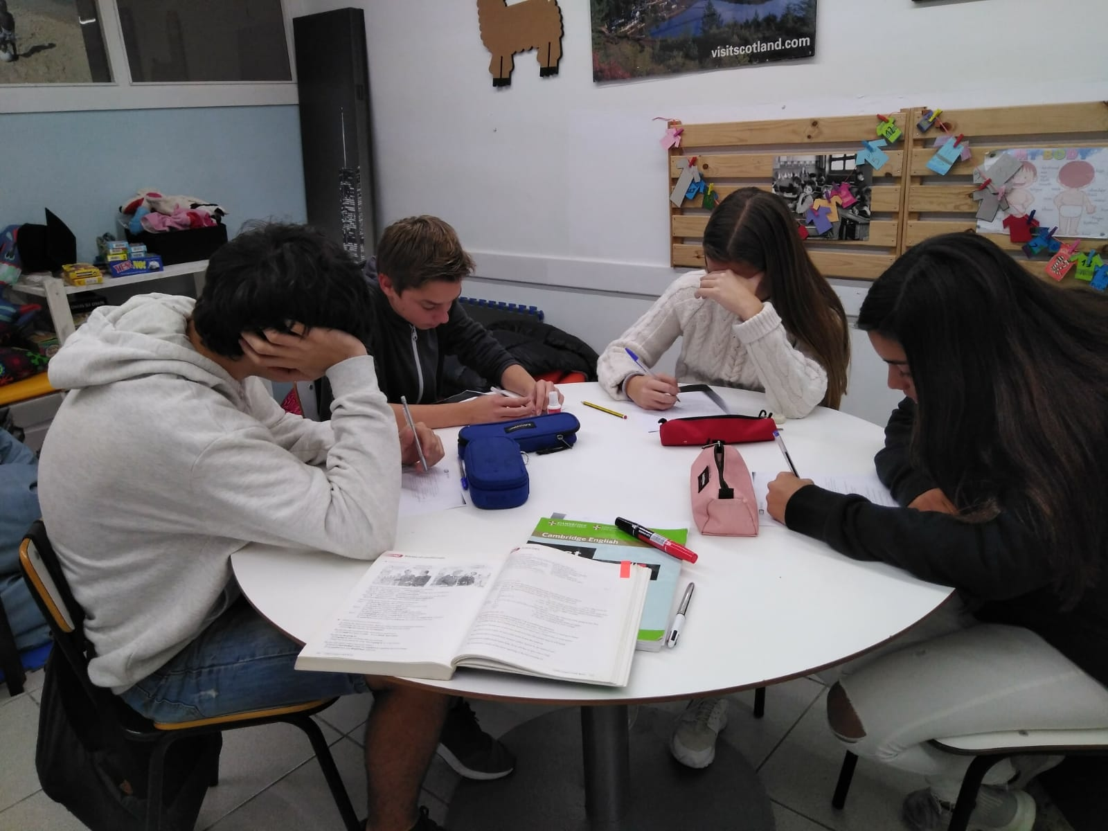 Our teens doing lovely conditionals!