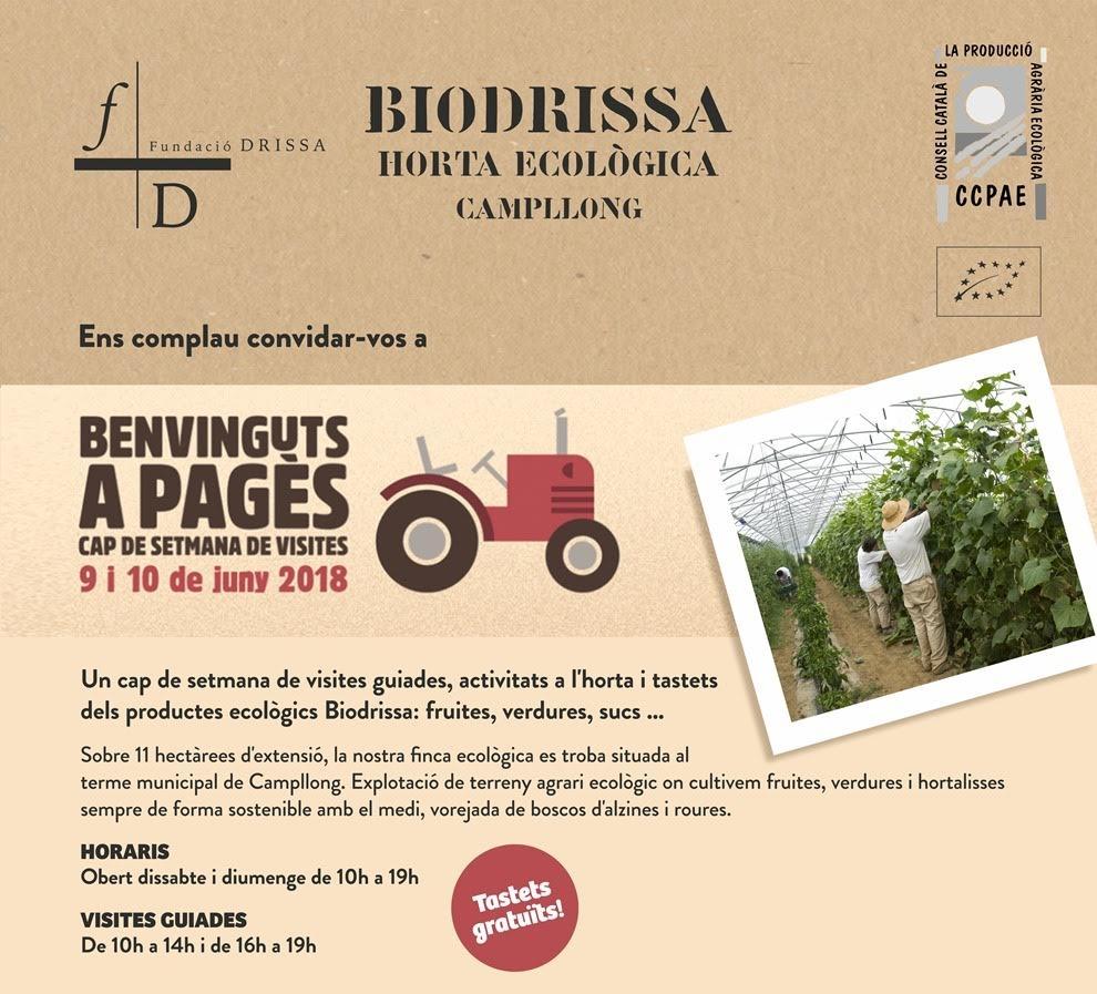 Participació de Biodrissa en Benvinguts a Pagès