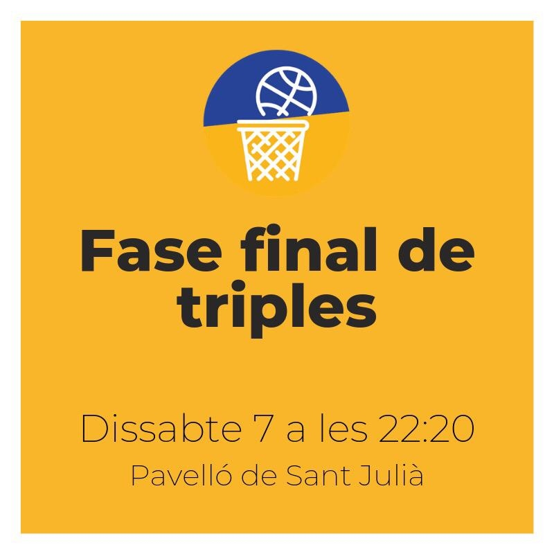 Classificats fase final de triples