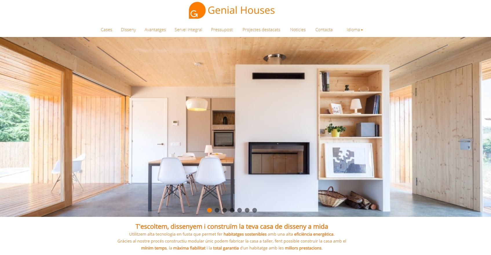 Col·laboració en la posta en marxa de la nova web de Genial Houses