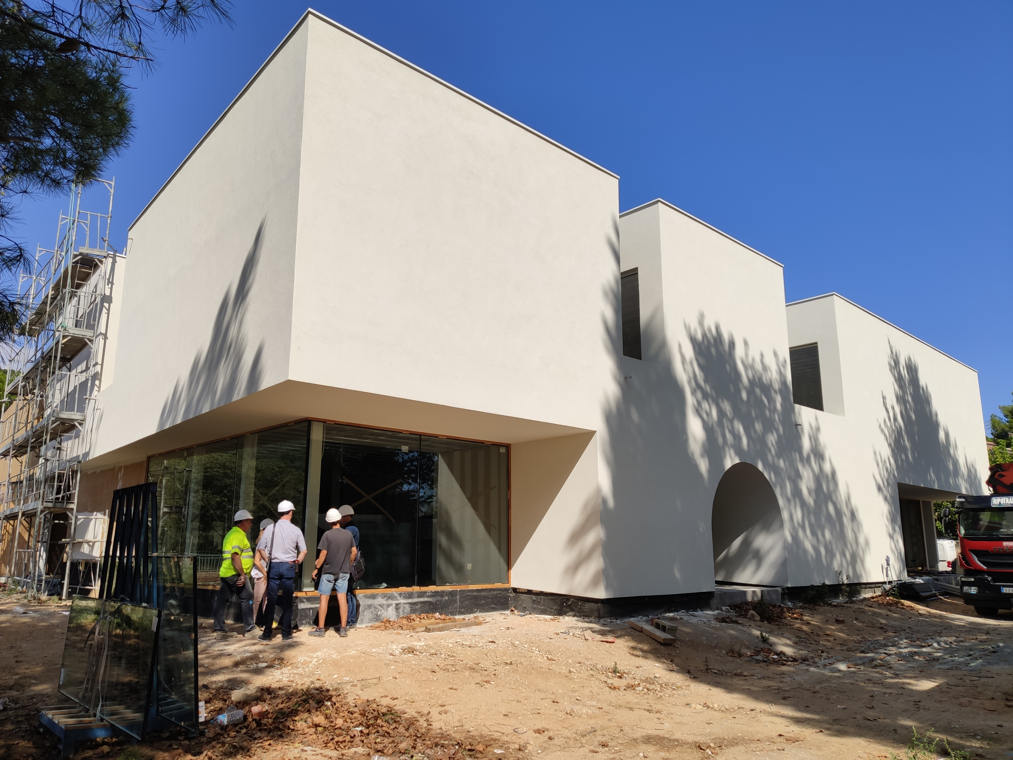 Fase final de les obres del nou Centre cívic de Castell d'Aro