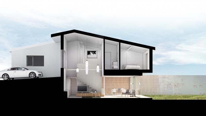 Nou projecte d'un habitatge unifamiliar entre mitgeres