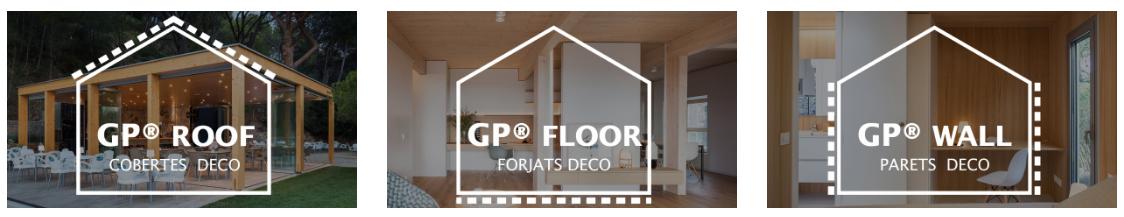 Acabat decoratiu del panell en cobertes, forjats i façanes / Acabado decorativo del panel en cubiertas, forjados y fachadas