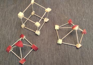 Y para merendar: estructuras con fruta