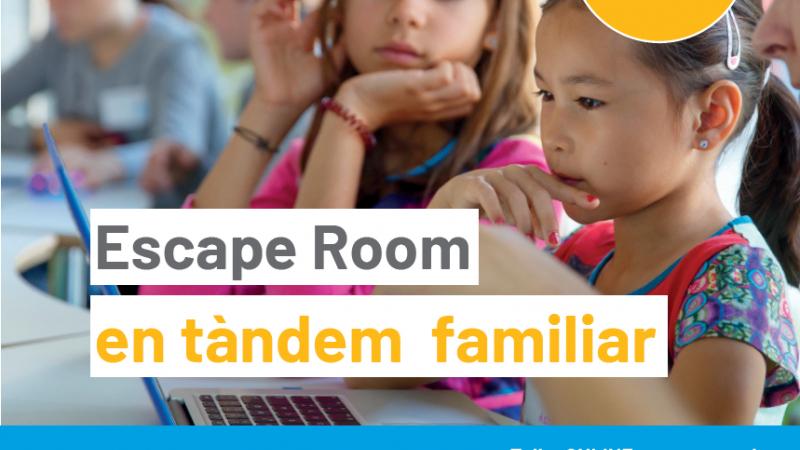 Ja us podeu apuntar al taller gratuït ESCAPE ROOM EN TÀNDEM FAMILIAR!!! @MeetandCode @SAP @techsoupeurope #meetandcode #codeEU #SAP4Good