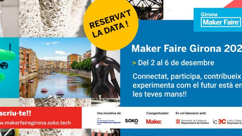 No et perdis el Maker Faire 2020 a Girona! ENGINY-era hi participa el 5/12