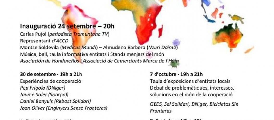 Jornades Formatives en Solidaritat i Cooperació: Aprenent a cooperar