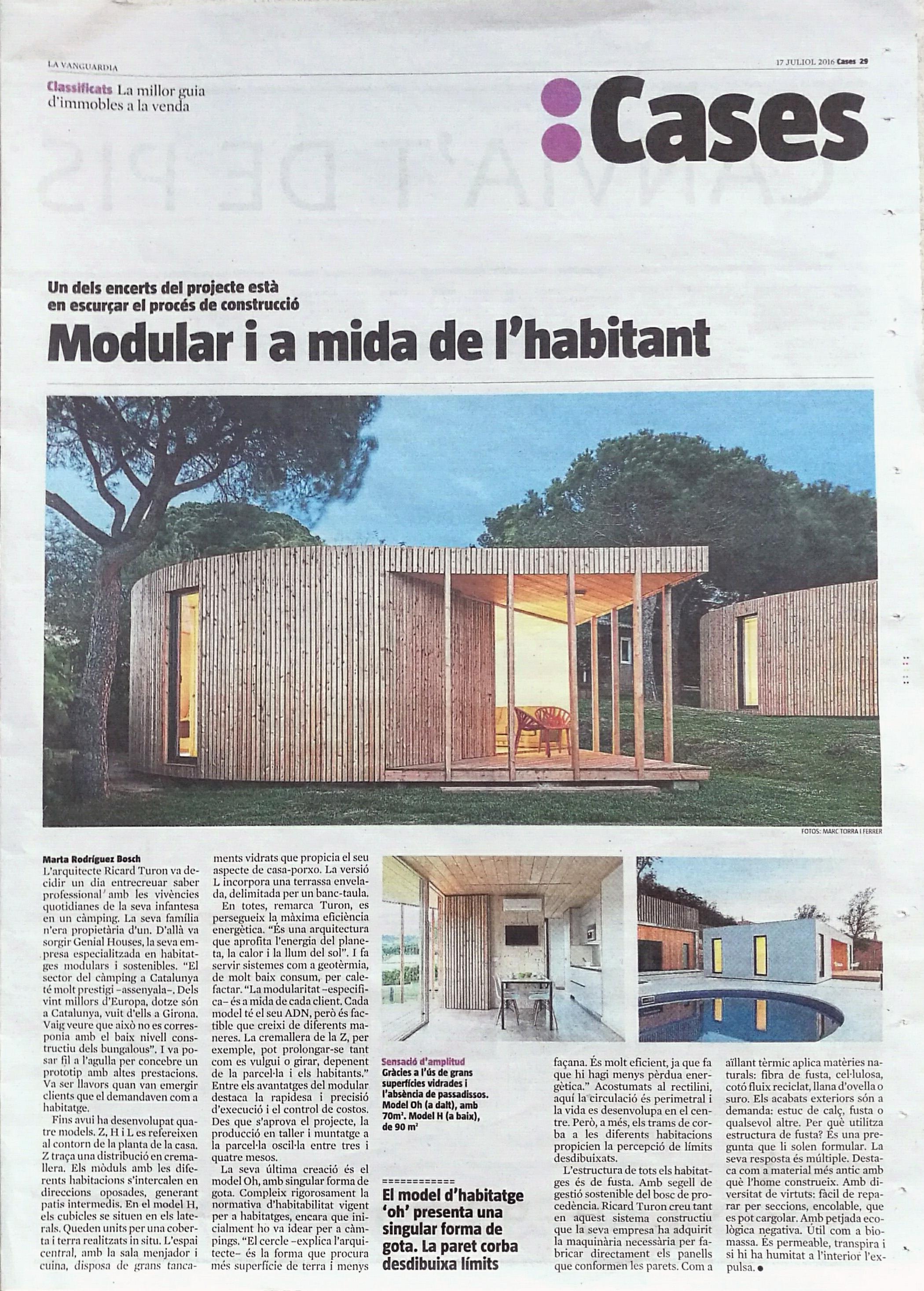 Genial Houses surt a La Vanguardia!