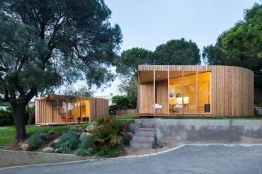 Model Oh: Casa prefabricada de disseny feta amb fusta i modular, 100% a mida