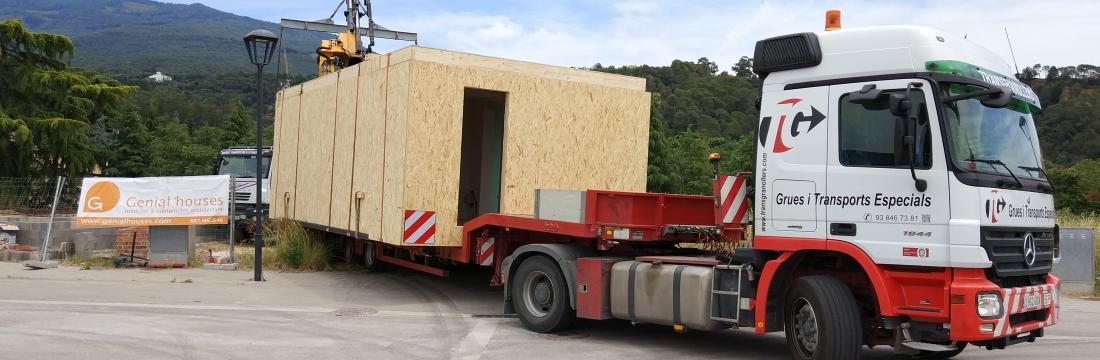 La casa model H de Palautordera ja ha arribat al seu lloc!