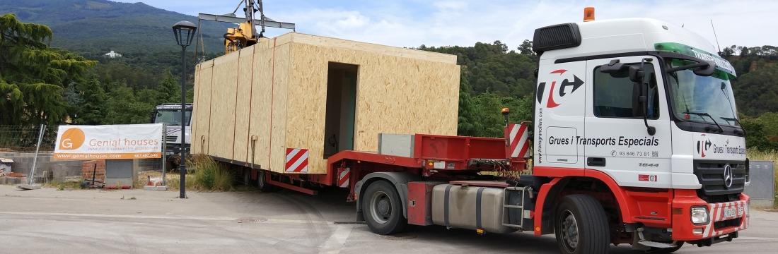La casa modelo H de Palautordera ya ha llegado a su sitio!