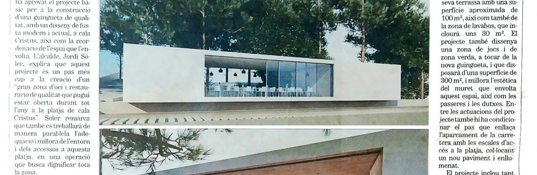 El Ayuntamiento de Calonge construirá un nuevo chiringuito diseñado por Ricard Turon