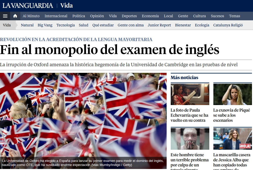 "Everywhere English Coaching en ""la Vanguardia"""