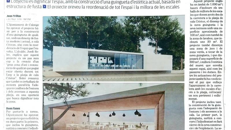 L'Ajuntament de Calonge farà una guingueta dissenyada per Ricard Turón