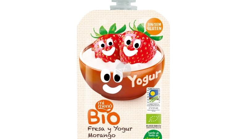 Beguda de maduixa i iogurt BIO sense gluten MI MENU