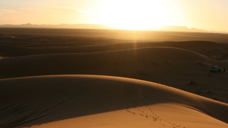 Camel tour per les dunes Erg Chebbi