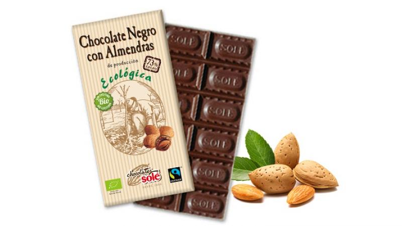 Xocolata negre 73% amb atmelles bio SOLER